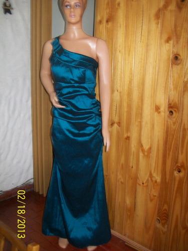 vestido fiesta  straplees largo tela elatizada t 4  $1600