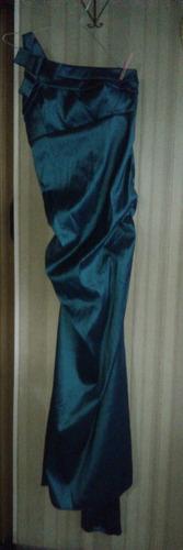 vestido fiesta  straplees largo tela elatizada t 4