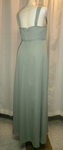 vestido fiesta t.32, verde, sencillo,  elegante, david's bri