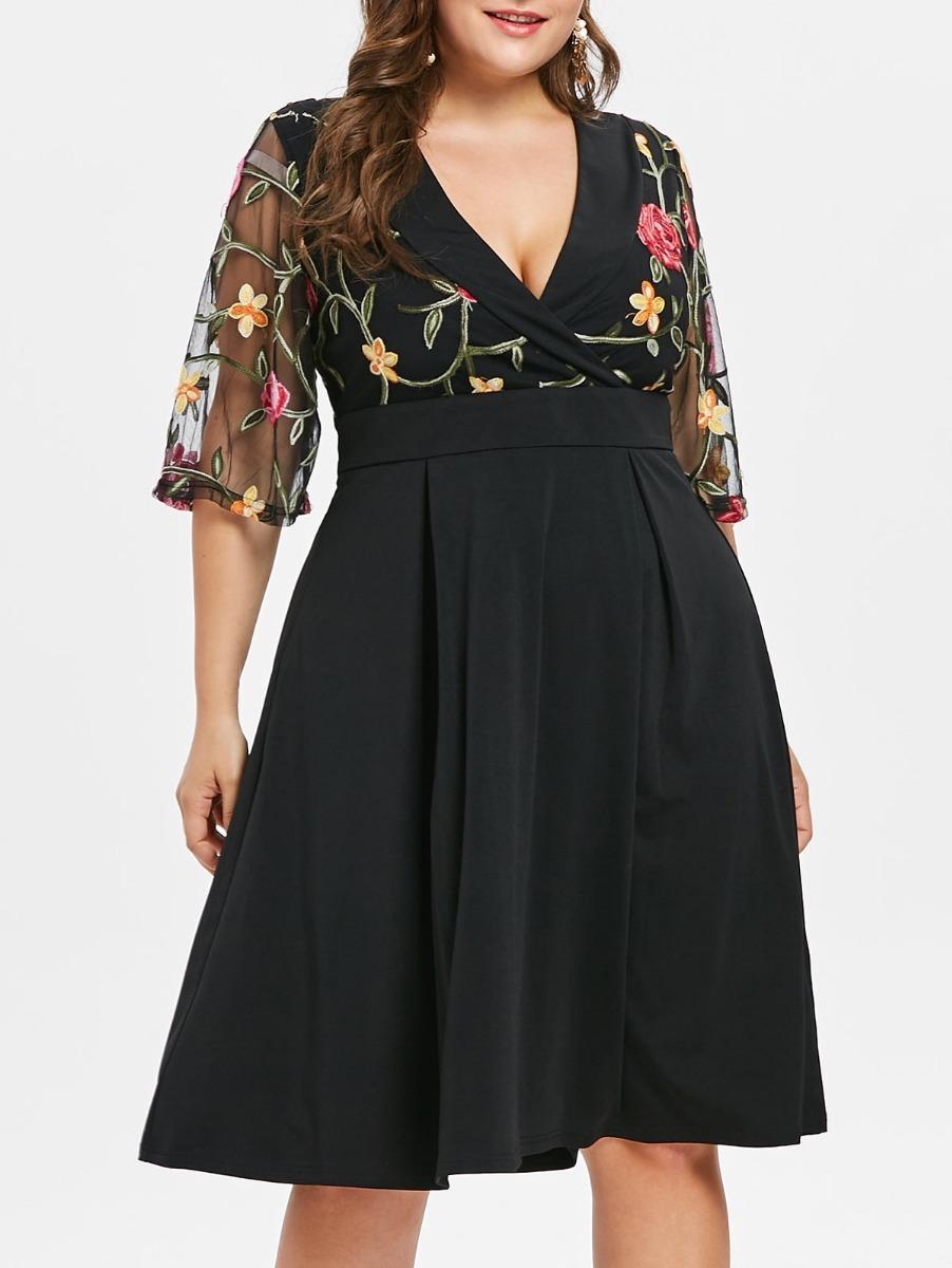 Vestido negro talla 50