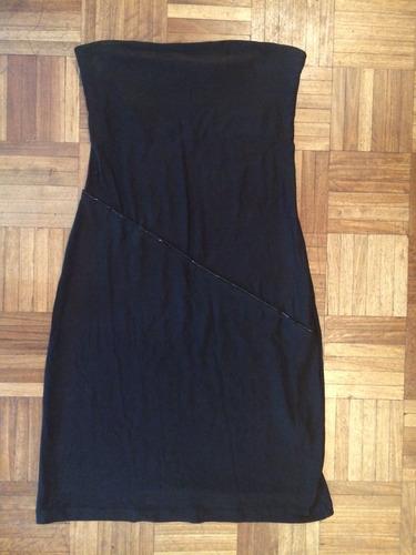 vestido fiesta talle s negro, marca materia