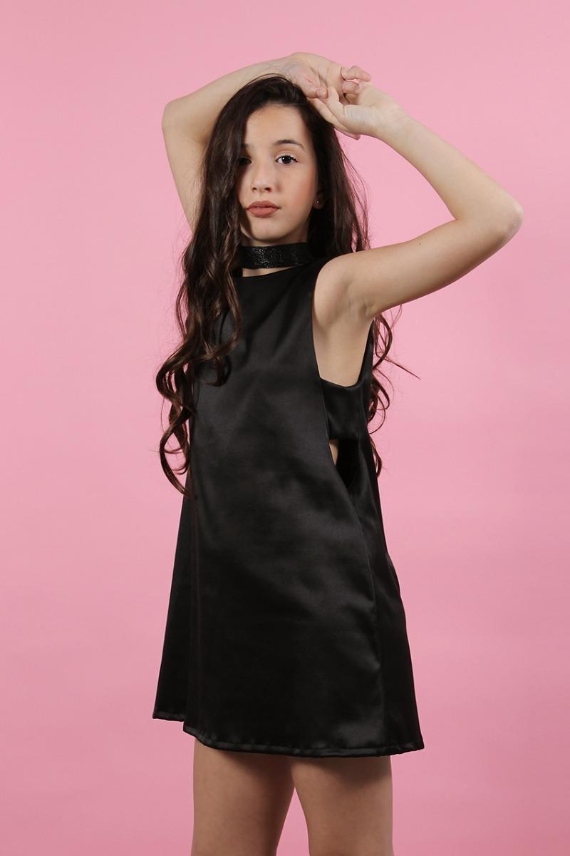 Vestido Fiesta Teen Recorte Negro - Talle 10 A 14 - $ 981,00 en ...