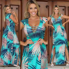 37fd88bd86 Vestido Longo Abertura Perna - Vestidos Longos Femininas no Mercado Livre  Brasil