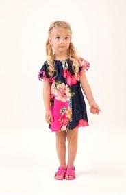 f12037aa16c15a Vestido+floral+com+pompom+mon+sucre+infantil+menina