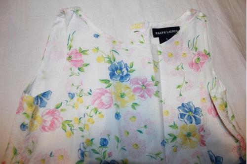 vestido floral da ralph lauren - tam 5