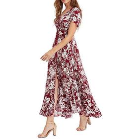 Vestido Floral Elegante,veste 38,40,42 Super Confortável