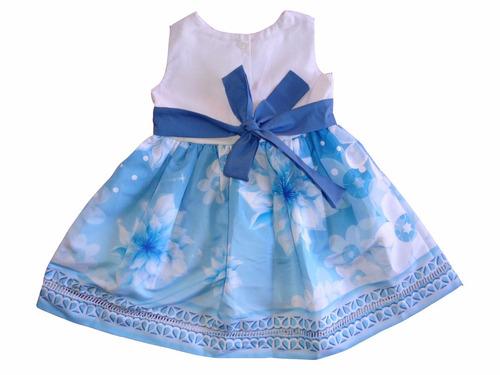 vestido floral flores azul juvenil