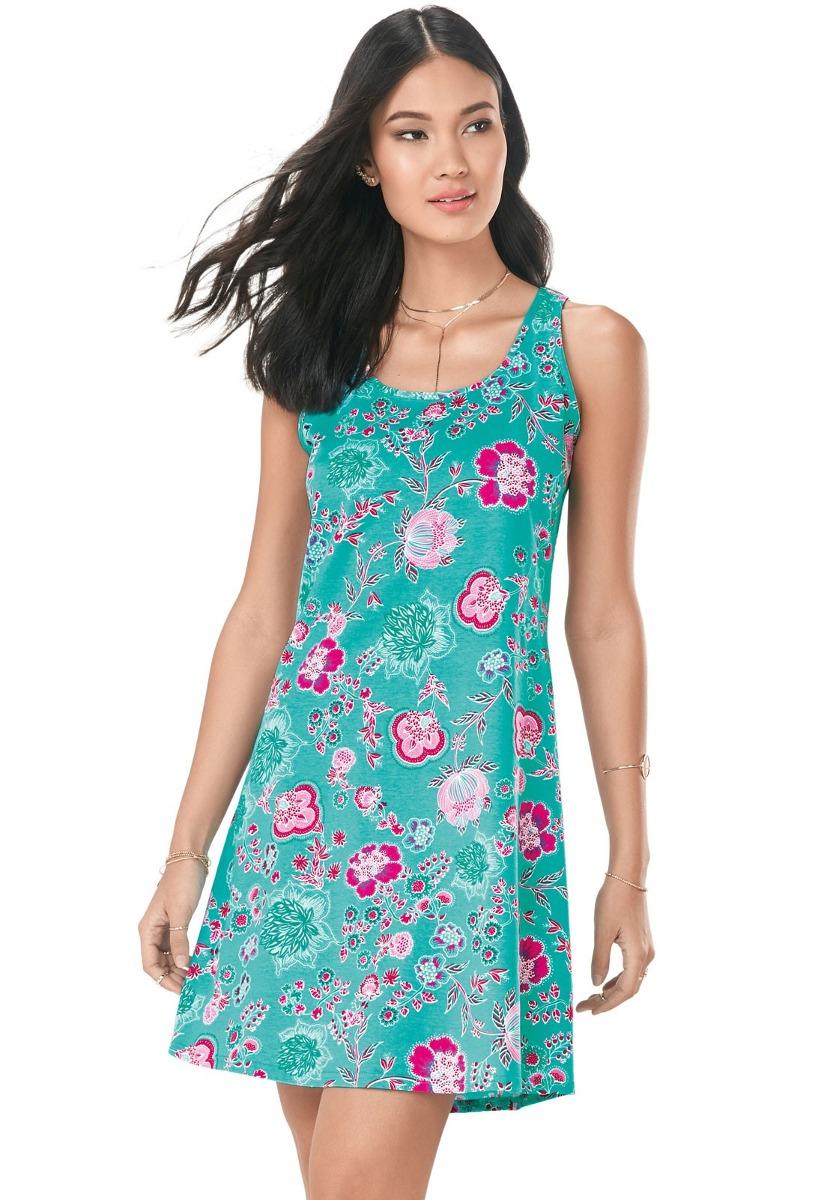 d8019eb81d vestido floral malwee feminino. Carregando zoom.