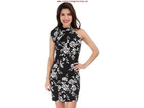 f9b6e6073 Vestido Floral Rue De La Paix Negro Mod 7ve06421 Original