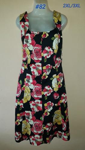 vestido floreado (#82) talla plus. xl/2xl