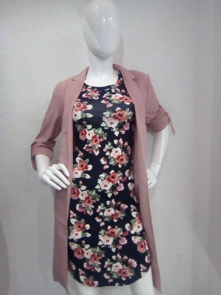 3167a94eb27a1 Vestido Floreado Con Mangas Para Dama -   580.00 en Mercado Libre