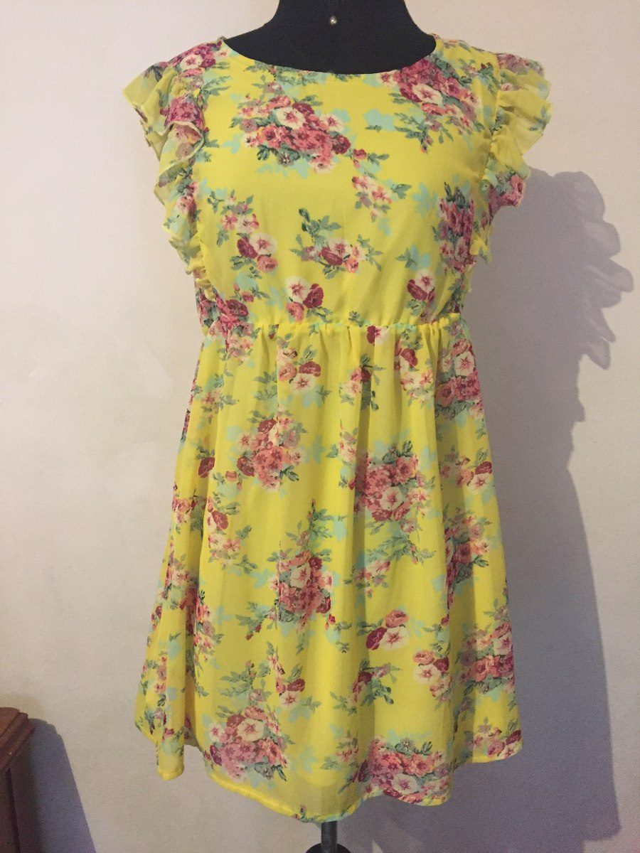Vestido Floreado Moda Asiática Comprado En Japón