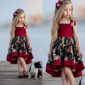 Vestido Flores Floreado Niña Bebe Vintage Fresco Hippie Moda