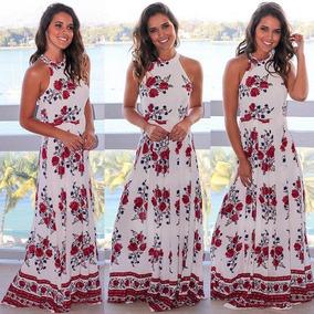 Vestido Flores Largo Elegante Playa Fiesta Coctel Msm L