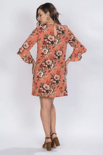vestido flores m/amplia chedron-s73120-che a1