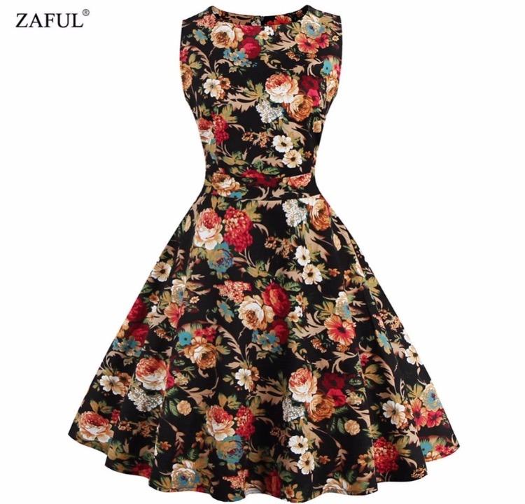Vestido Florido - R  120 5376e34d503