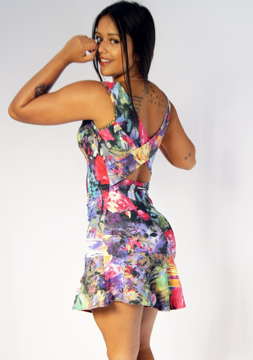 vestido florido roupas femininas blogueira estiloso. Black Bedroom Furniture Sets. Home Design Ideas