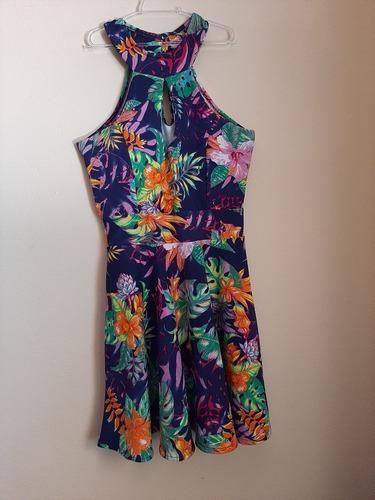 vestido florido, tamanho m