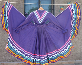 Vestido Folclore Jalisco Baile Morado