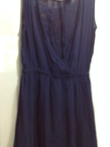 vestido forever 21 azul talla s