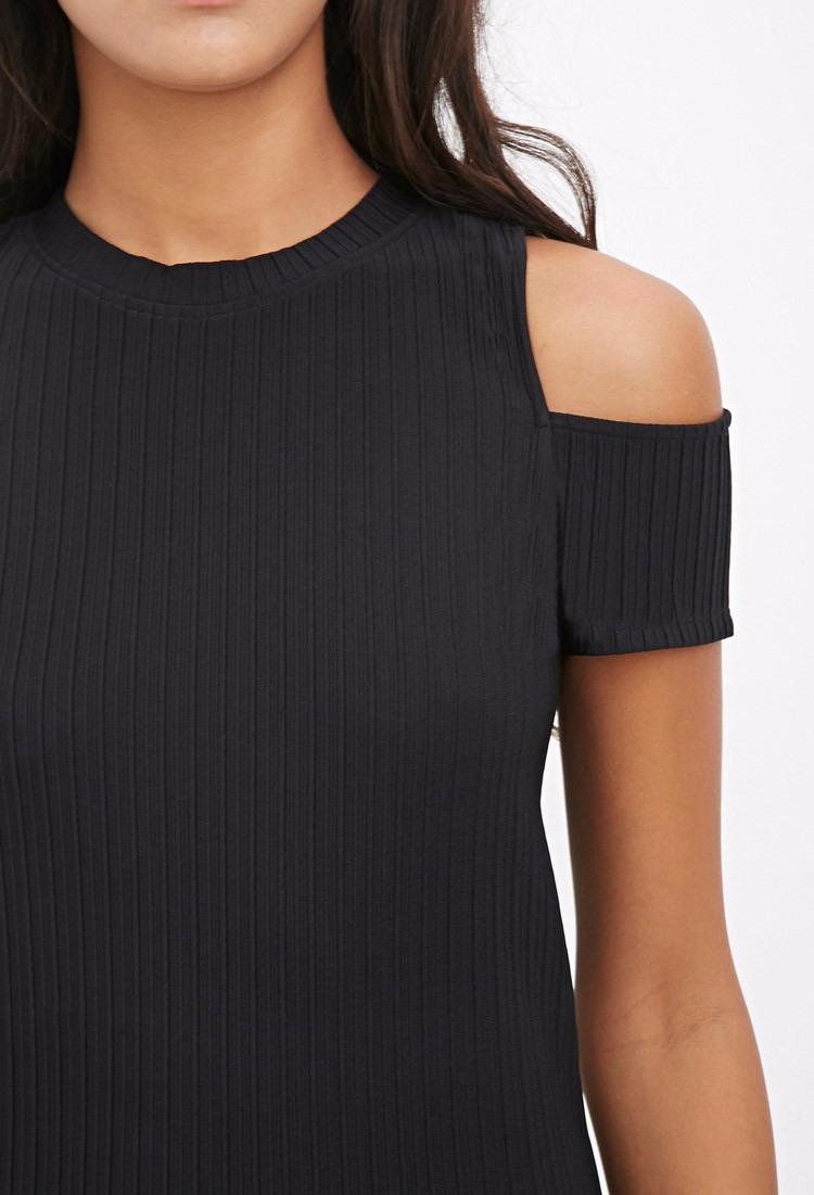 6179ffbb5d9 vestido forever 21 com detalhe na manga cor preto. Carregando zoom.