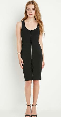 vestido forever 21 talla m stretch negro nuevo!! ropa mujer