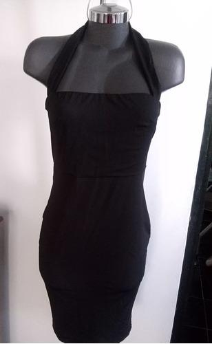 vestido formal negro escotado fiesta talla 11 y 13 xl y 2xl
