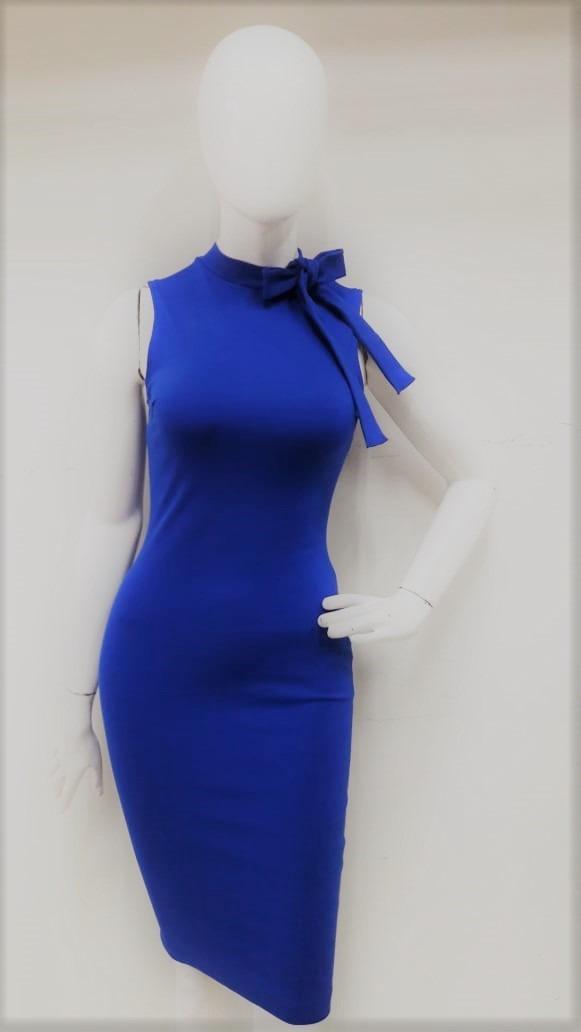 Vestidos de dama color azul rey