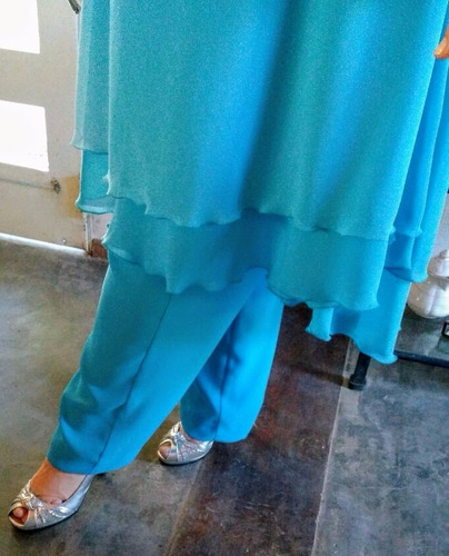 vestido formal tipo túnica t.52 - usado solo una vez!!!