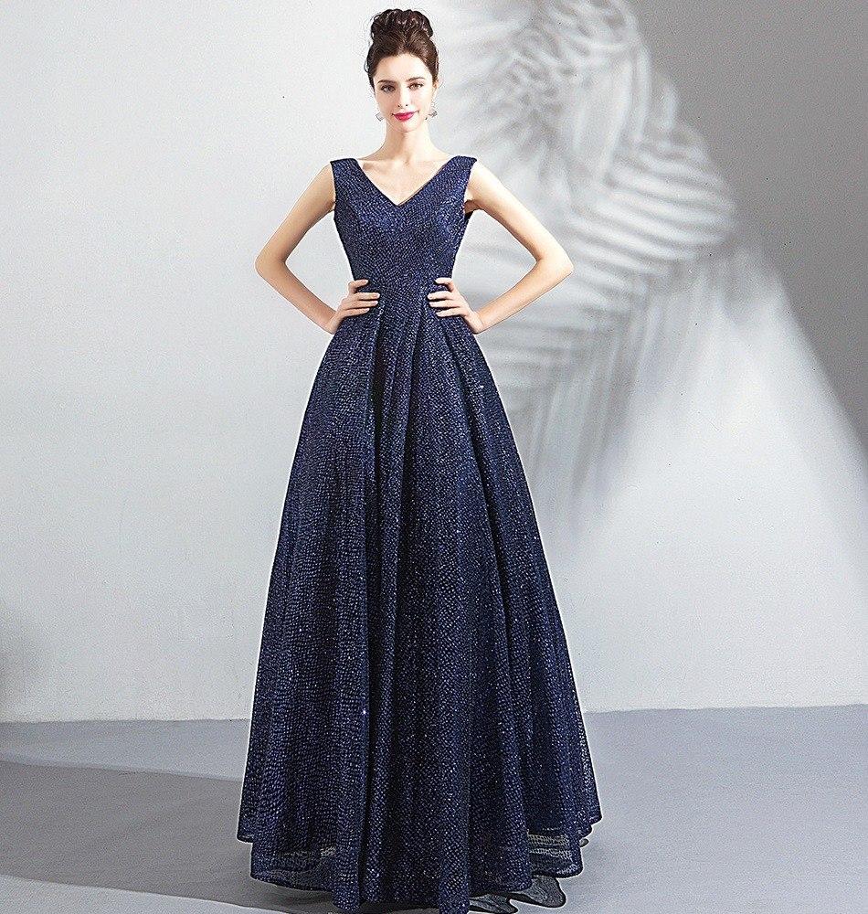Fotos de vestido de formatura azul marinho