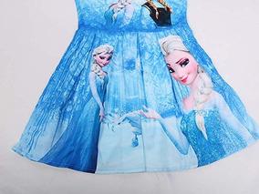 Vestido Frozen Ana Y Elsa Una Aventura Congelada Cosplay 4 5