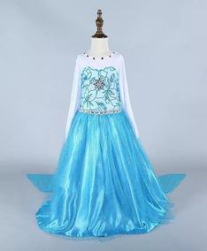 Vestido Frozen Elsa Disfraz Completo Ccapa Hermosa