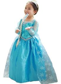 Vestido Frozen Elsa Disney Disfraz Presentación Envio Gratis