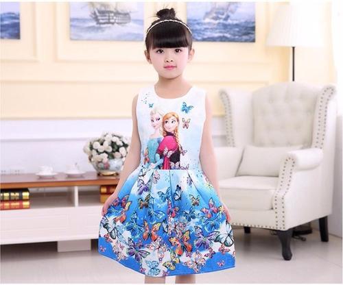 vestido  frozen elsa princesa fantasia importado - promoção