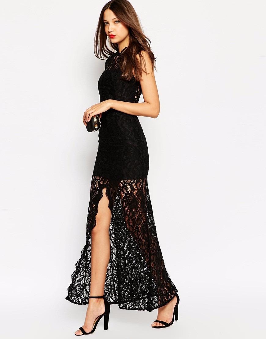 b1fa981d9d vestido g feminino longo elegante clássico em renda fenda. Carregando zoom.
