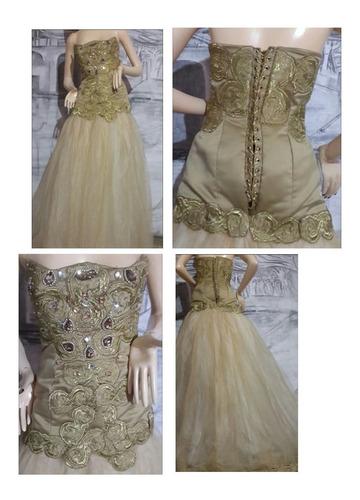 vestido gala con cristales y swarovski
