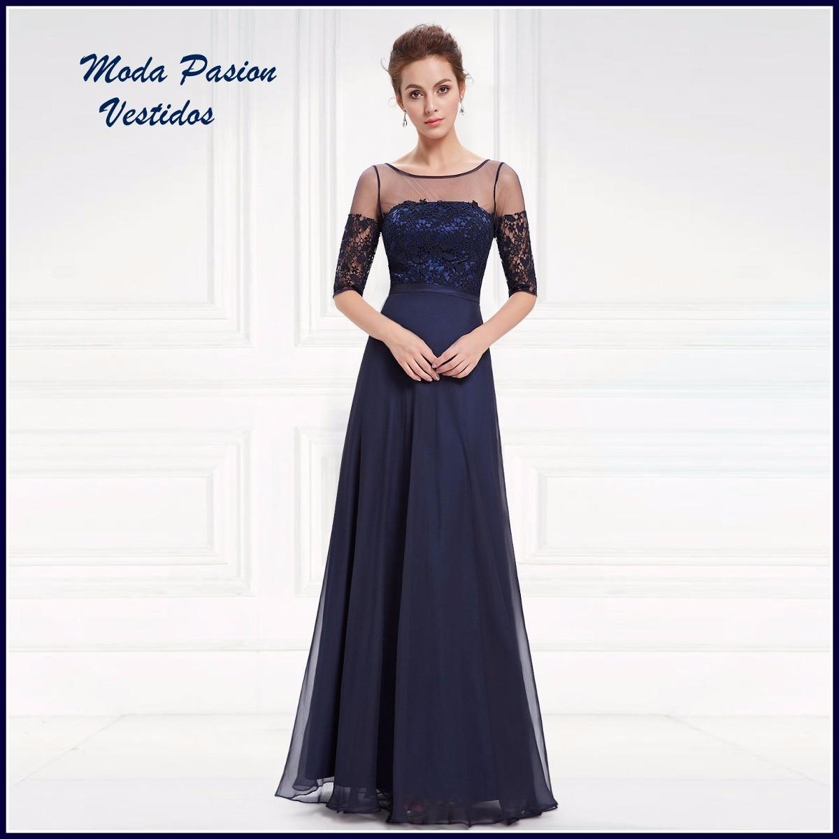 7c0241aef vestido gala con mangas madrina- bodas moda pasion. Cargando zoom.