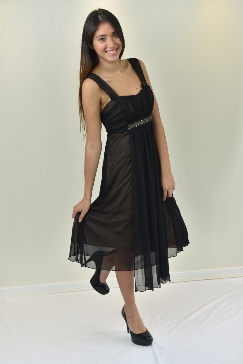 e59e50aea9 Vestido Gala Negro -   35.900 en Mercado Libre