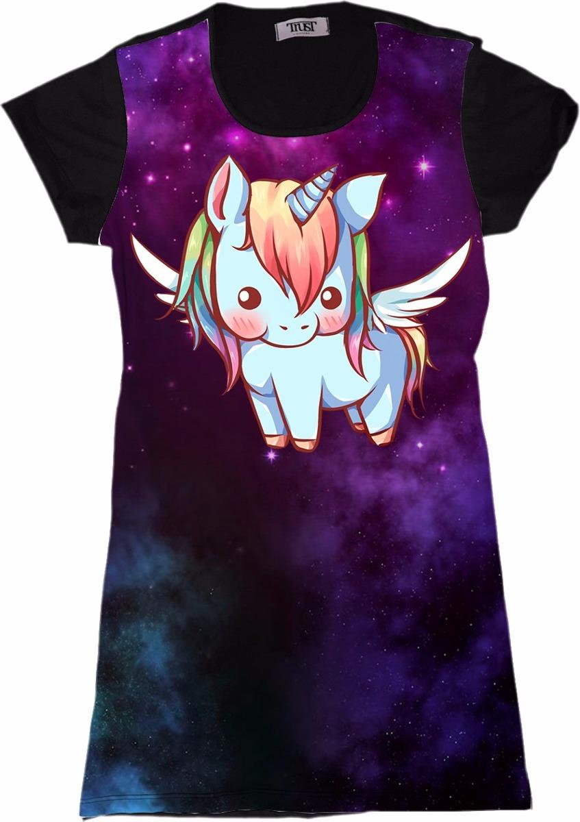 Vestido Galaxia Galaxy Tumblr Unicornio Fofo Kawaii Pegasus R