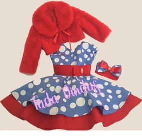 fd2426179 Vestido Infantil Dinda - Calçados, Roupas e Bolsas no Mercado Livre ...