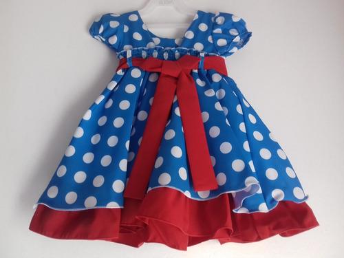 vestido galinha pintadinha infantil azul com bolinhas