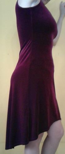 vestido gamuzado color vino tinto talla 4