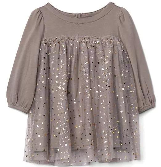 5477a318c9 Vestido - Gap Baby - Saia Em Tule Com Estrelas Douradas - R  87
