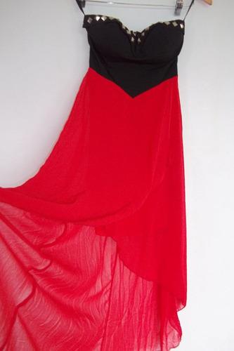 vestido gasa  con tachas en el busto comprado en nyc