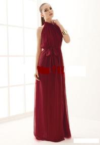 Vestido Gasa Precioso Elegante Vino Madrinas Otros