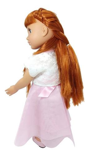 vestido gasa top y zapatos rosas muñeca 45 cm/18 witty girls