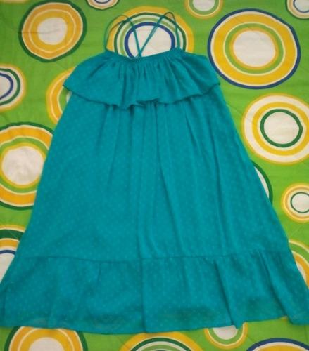 vestido gasa verde esmeralda