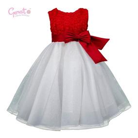 Vestido Gerat De Graduacion Niñas Rojo