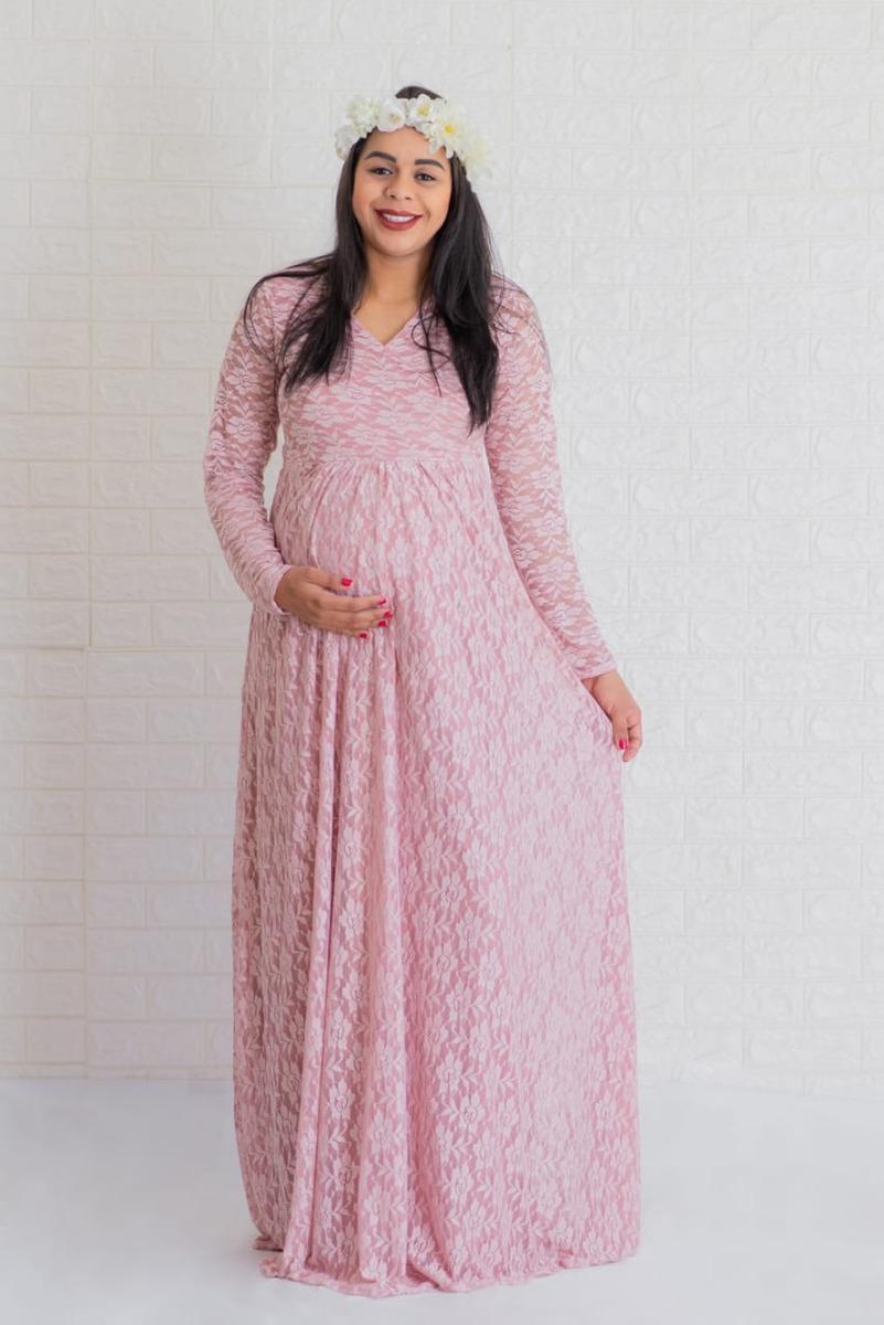 6ec704a7b vestido gestante, rosa, renda fotografia frete grátis 045. Carregando zoom.