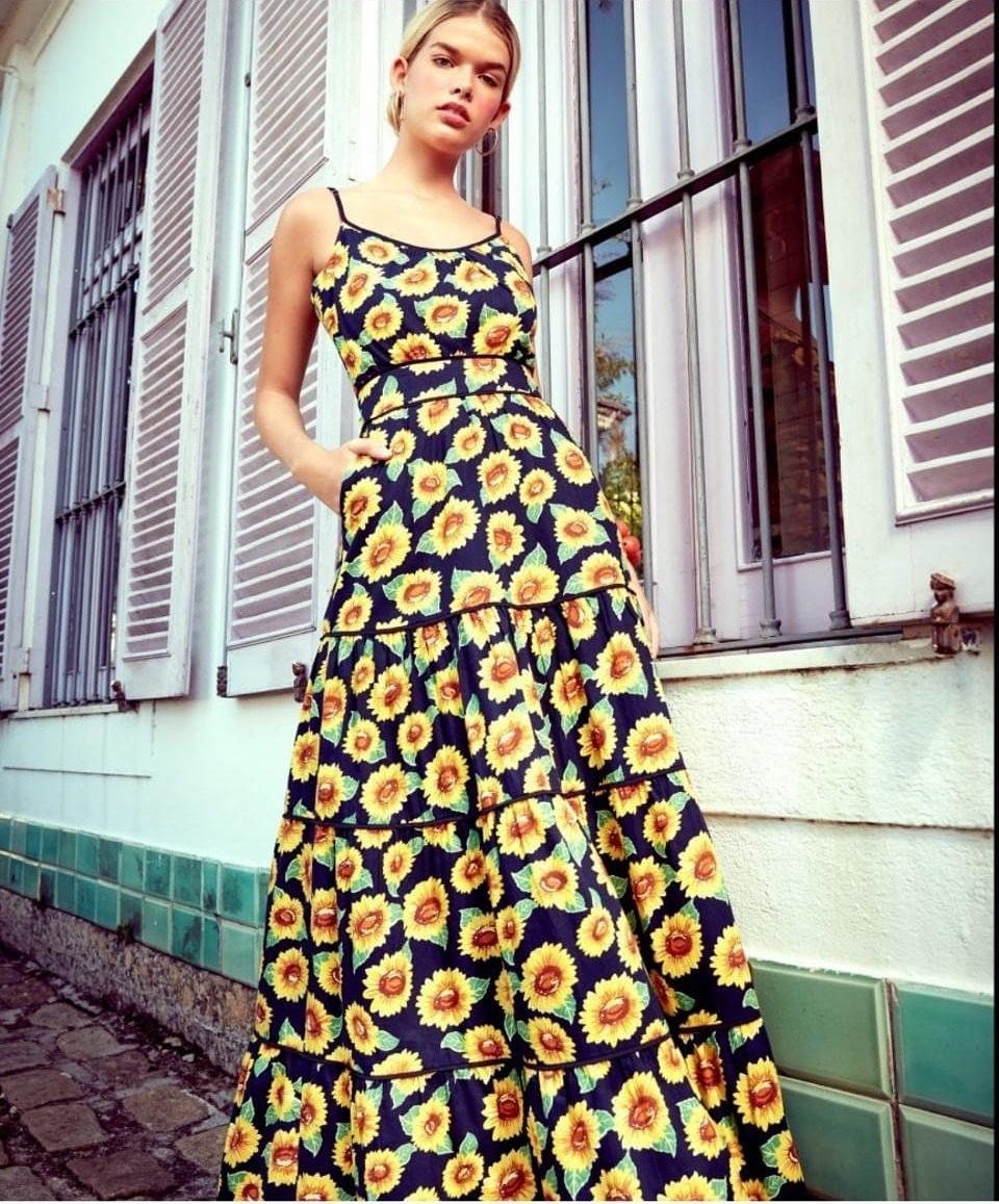 3e6f754da Vestido Girassol Amissima - R$ 760,00 em Mercado Livre